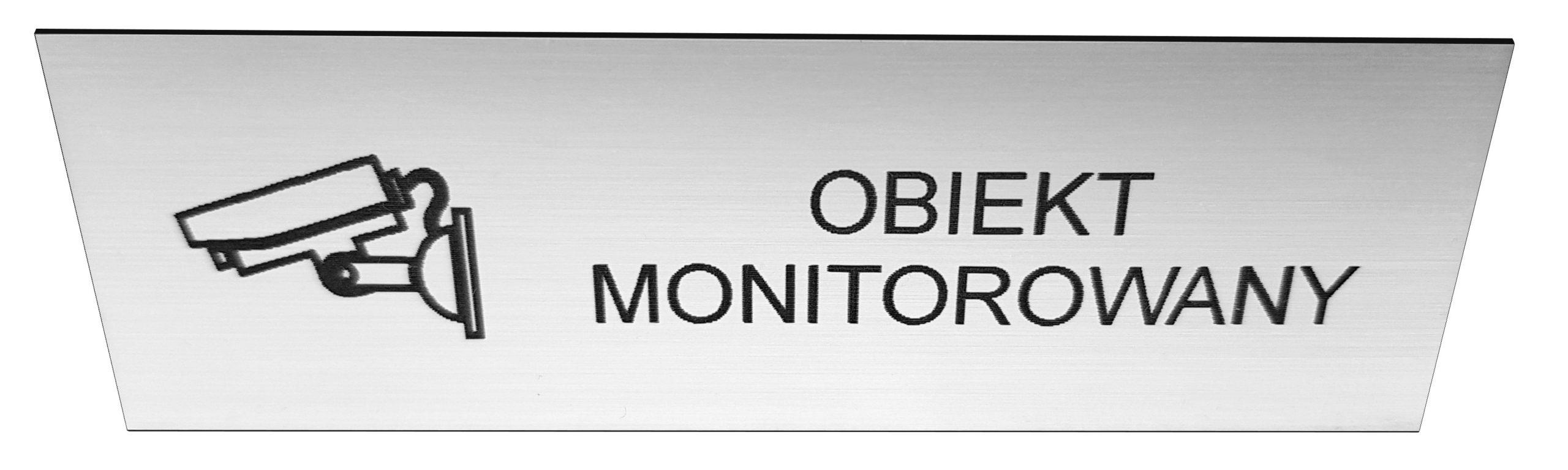 Tabliczka informacyjna obiekt monitorowany