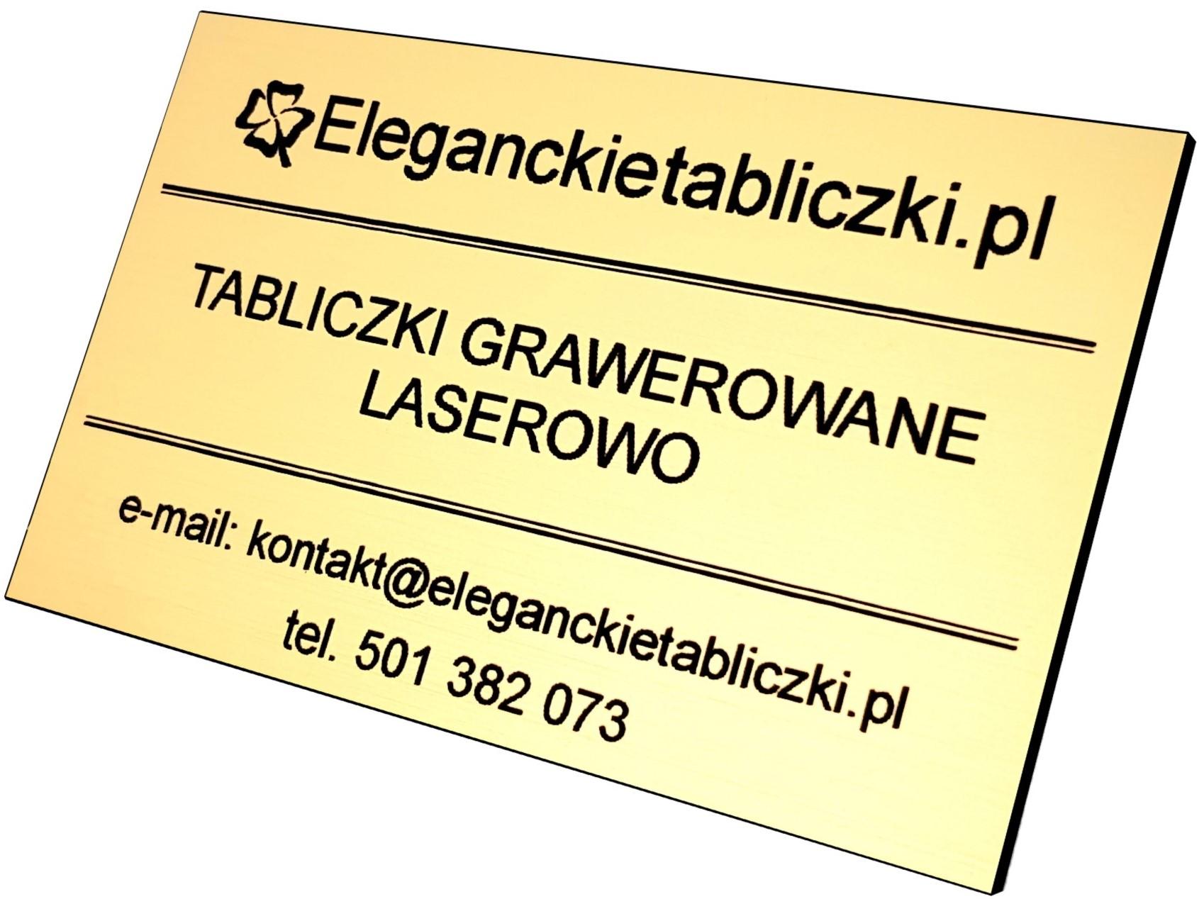 Tabliczki grawerowane laserowo Eleganckietabliczki.pl