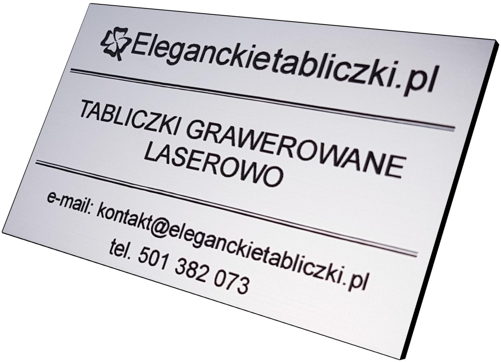 Tabliczki z grawerem Eleganckietabliczki.pl